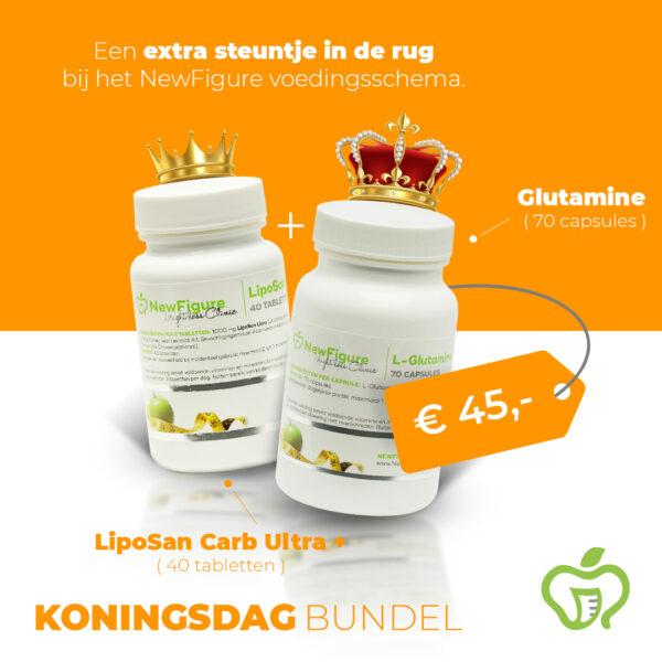 NewFigure Koningsdag actie 2021 Liposan Carb Ultra Plus + Glutamine